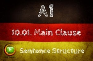 German Main Clauses