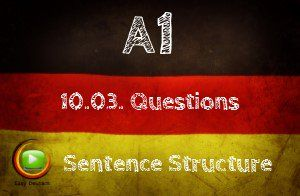 How to ask questions in German