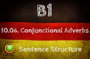 German conjunctional adverbs