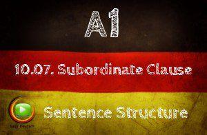 German SUbordinate Clauses
