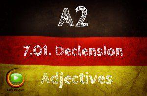 German Adjective declension