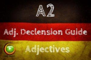 German Adjective Declension easy