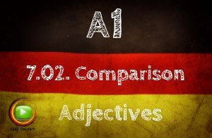German Comparison with Adjectives