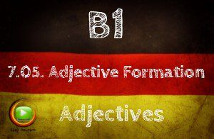 German Adjective formation