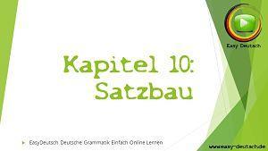 Deutsche Grammatik Satzbau