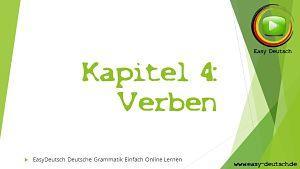 Deutsche Grammatik verben
