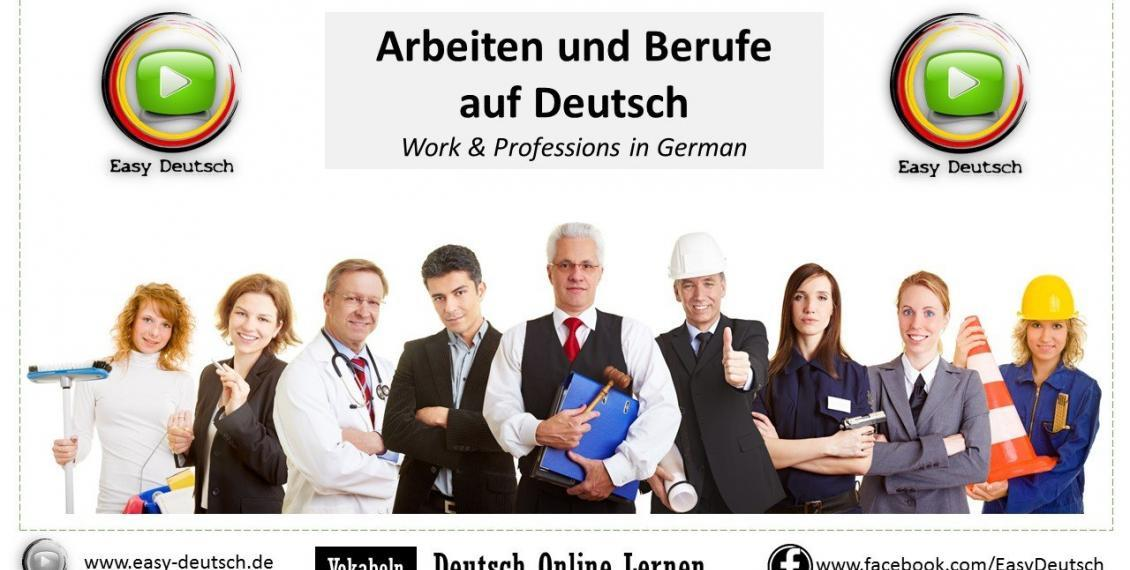Work & Profession in German
