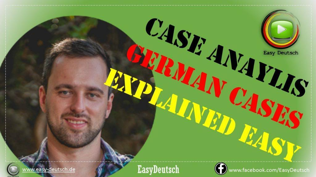 German cases explained on examples