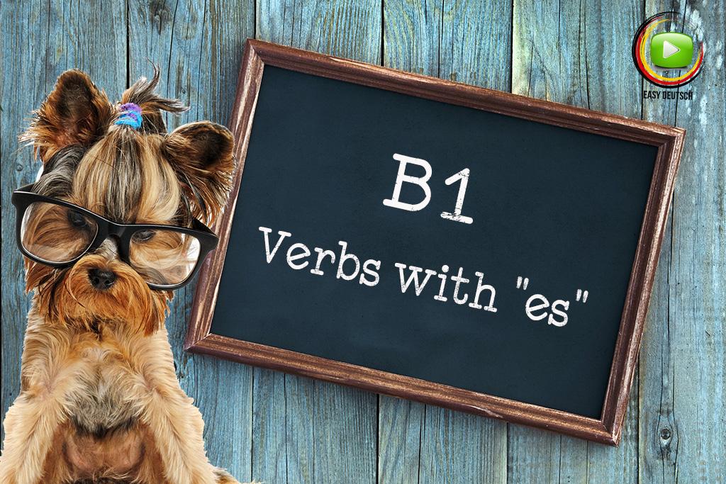 Verbs with es