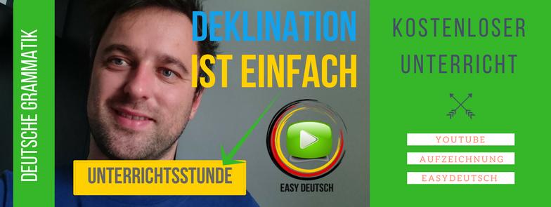 Deutsche Deklination Kostenloser Unterricht