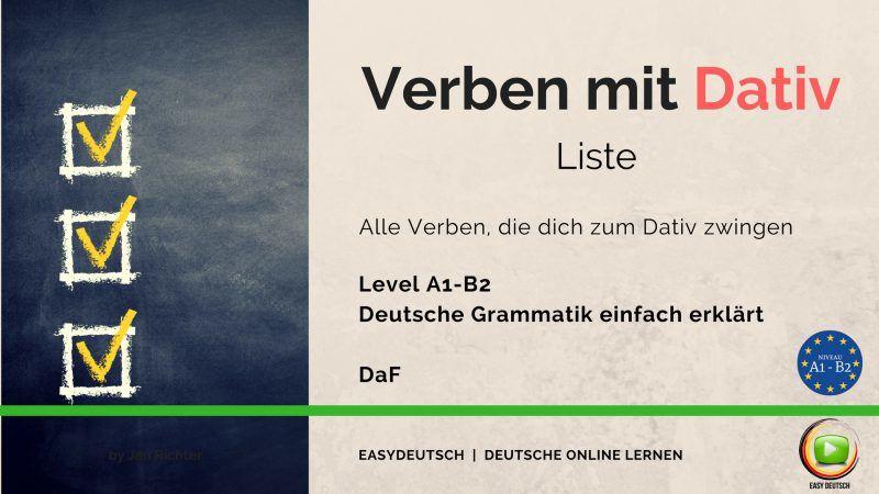 Liste Verben Mit Dativ Die 45 Wichtigsten Grammatik Lernen
