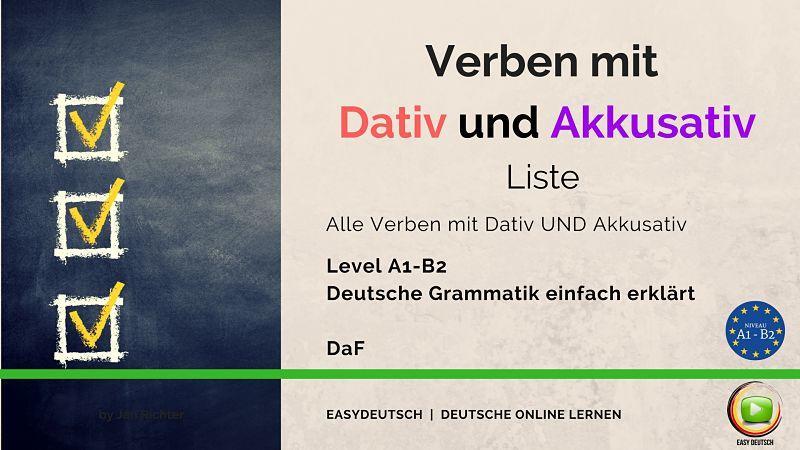 Verben mit Dativ und Akkusativ