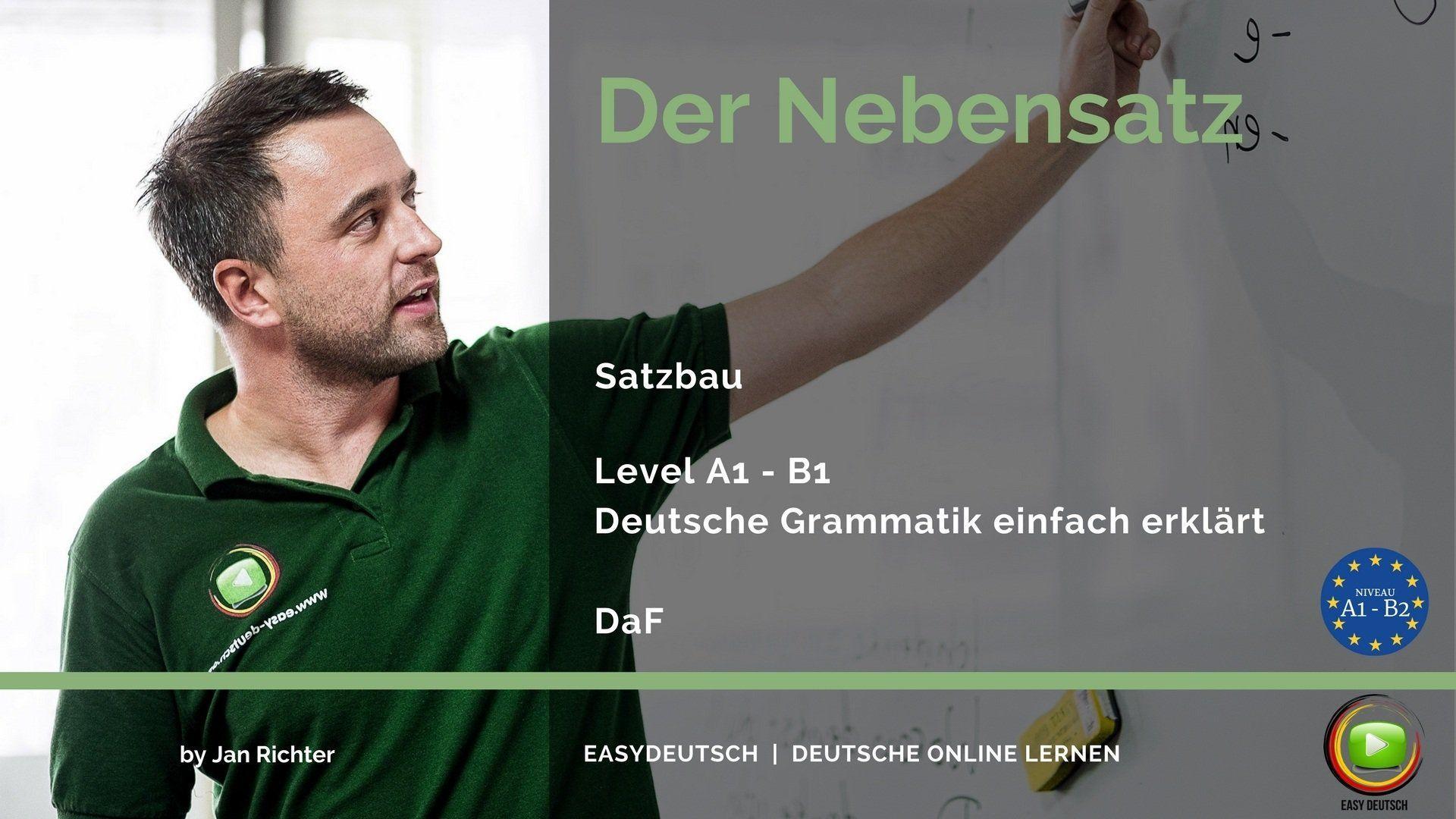 Nebensatz   Deutsche Grammatik einfach erklärt   EasyDeutsch