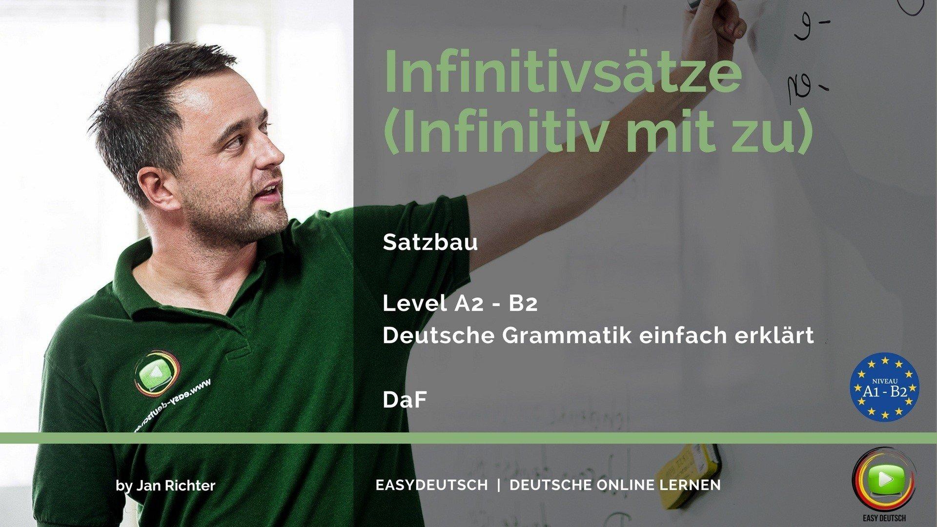 infinitiv mit zu infinitivstze grammatik unkomplizierte erklrung easydeutsch - Infinitivsatze Beispiele