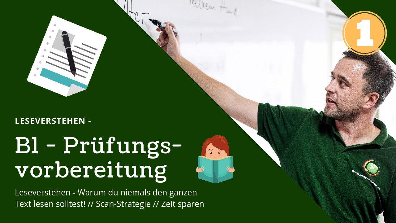 B1 Prüfungsvorbereitung Deutsch 1
