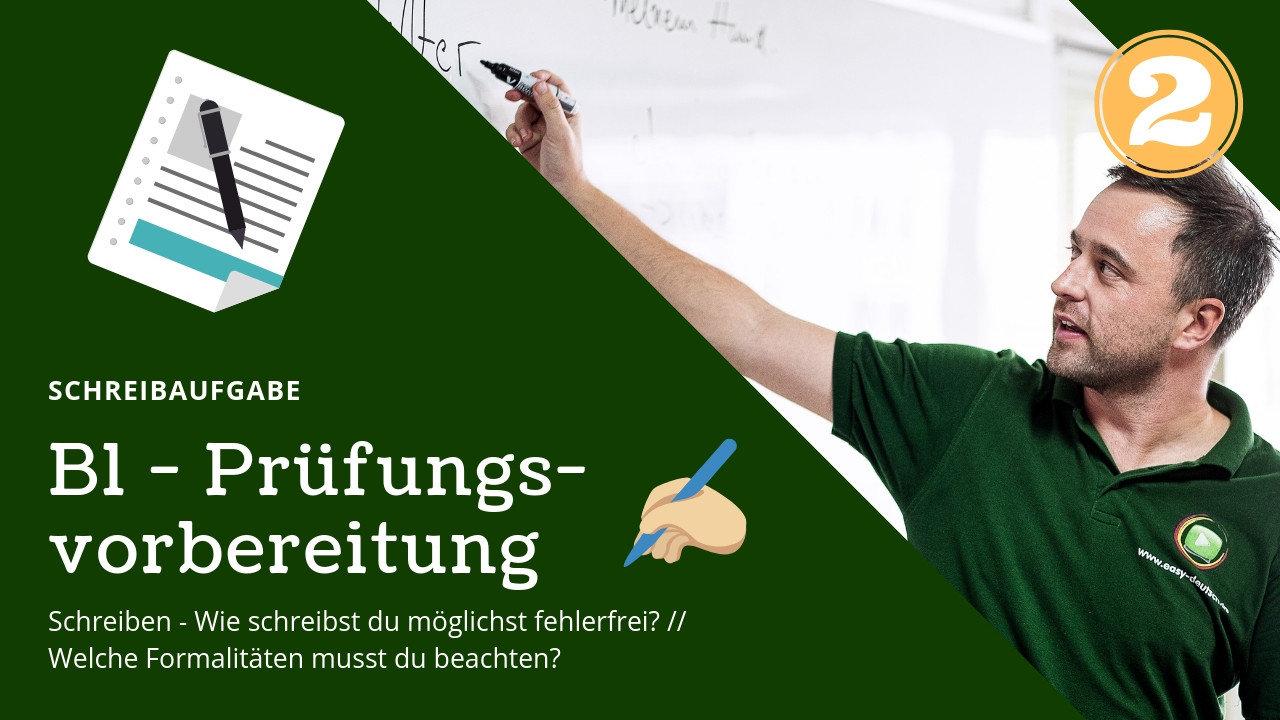 B1 Prüfungsvorbereitung Deutsch 2