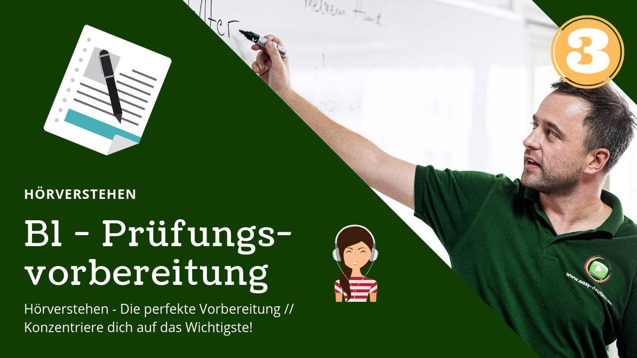B1 Prüfungsvorbereitung Deutsch 3