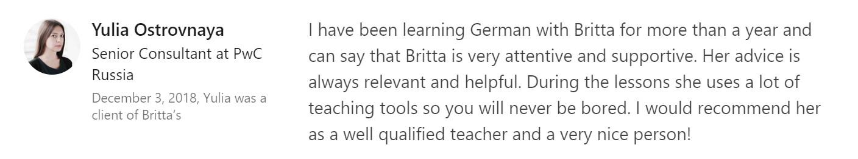 Britta Deutschlehrerin - Schülerin Julia