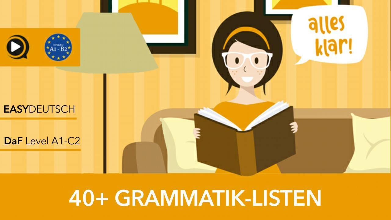 Deutsche Grammatik Listen