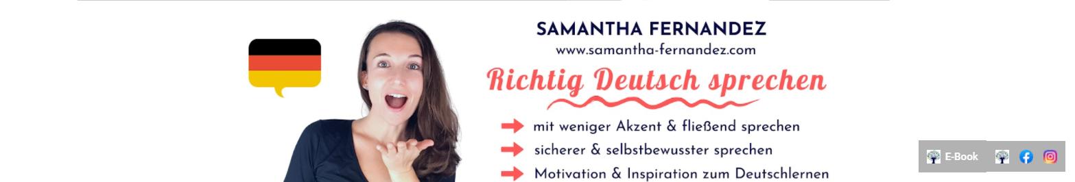 Samantha Aussprache verbessern Youtube-Kanal